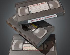 3D asset realtime VHS Tapes Set 1 80s