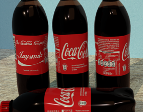 3D model Photorealistic Coca-Cola Bottle with Custom Name