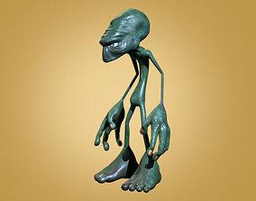 Alien 3D rigged