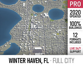 3D model Winter Haven - city and surroundings