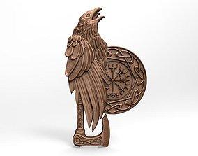 Viking crow CNC 3D print model