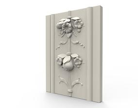3D printable model Flower Wall Relief Sculpture