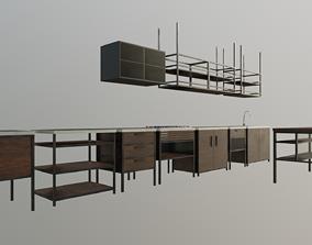 Industrial Kitchen Set 3D asset