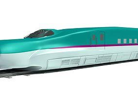 Shinkansen High Speed Train 3D model electric