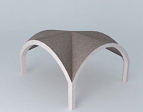 Vaulted barn 3D model
