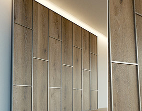 Wooden wall panel 72 3D model