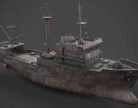 3D model PBR Old rusted abandoned vessel