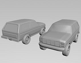 Ford Bronco 1978 3D printable model