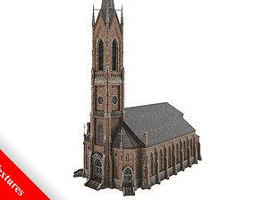 Church 01 3D model game-ready