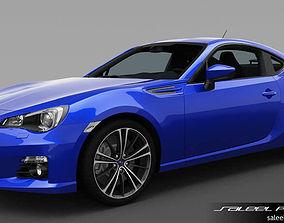 3D model Subaru BRZ 2014