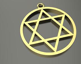 Model 56 David Star Necklace Hem Stitch Dissimilar Ethnic