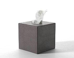 Leather Tissue Box Square 3D model