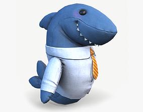 Shark toy 3D asset