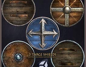 3D model 3 Targe Shields