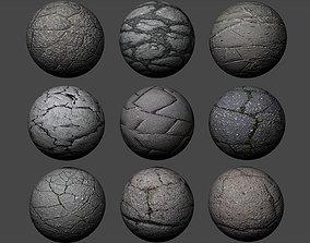 3D Ground Cracked Asphalt Textures Pack