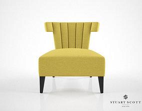 Stuart Scott Isabella slipper chair 3D model