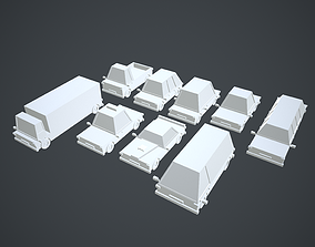 Cars 9 Types Pack No Texture 3D model