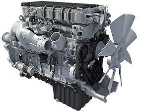 3D model aircraft Detroit Truck Engine