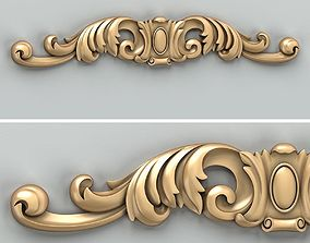 Carved decor horizontal 028 3D