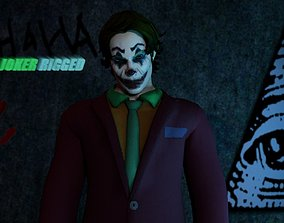 The Joker Rigged 2018 3D asset animated