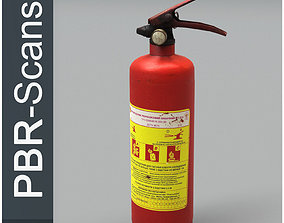 3D model Fire extinguisher3 low poly