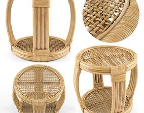 Montego Rattan Side Table 3D
