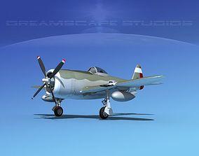 Republic P-47D Thunderbolt V12 3D model