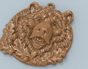 3D print model Bear head pendant medallion jewelry