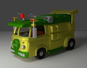 3D print model volkswagen van of the first cartoon 3