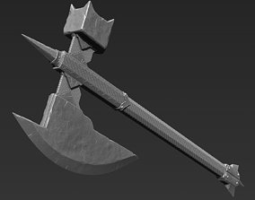 3D model Zbrush Battle Axe 02