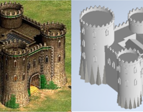 Byzantine castle - Age of Empires II 3D print model