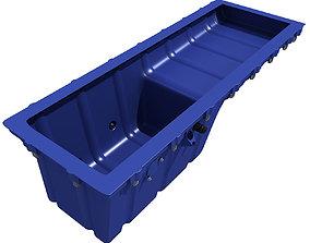 3D model Blue Oil Sump Pan v4