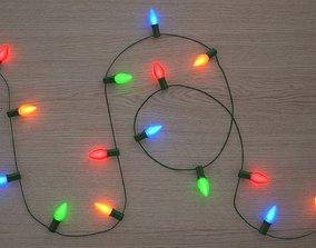 3D model String Christmas Lights V5