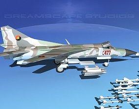 Mig-23 Fighter Algeria 3D