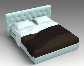 Leather bed 07 3D model