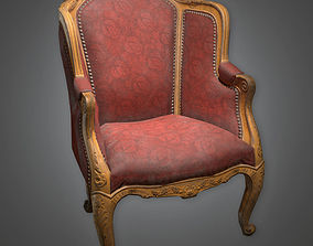 3D model Chair 04 Antiques - PBR Game Ready