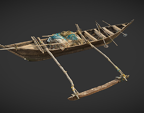 Indian Fishing Boat 3D asset