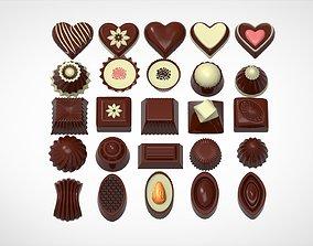 3D model dessert Chocolate Candies