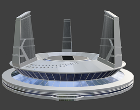 Star Labs CW The Flash Arrowverse 3D Model VR / AR ready