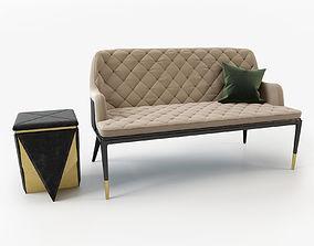 Charla two seat sofa 3D model