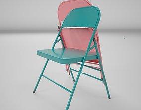 3D 002vintage foldingchair metal render ready vray