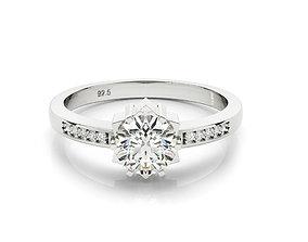 3dm jewelry gold diamond engagement ring