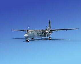 Fokker 50 Netherlands Air Force 3D