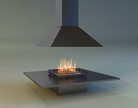 Fireplace hearth 3D