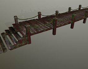 3D asset low-poly wooden pier
