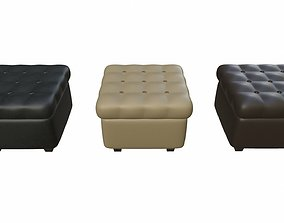 3D model Leather pouf sofa pack