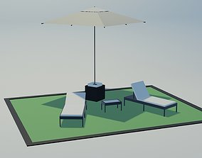 Deckchairs 3D model