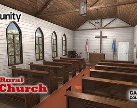 Rural Church 3D asset