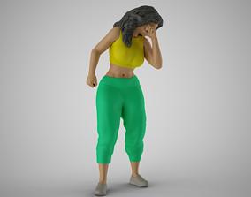 3D printable model Sports Girl Sneezing