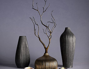 3D Decor - Vases and Branch